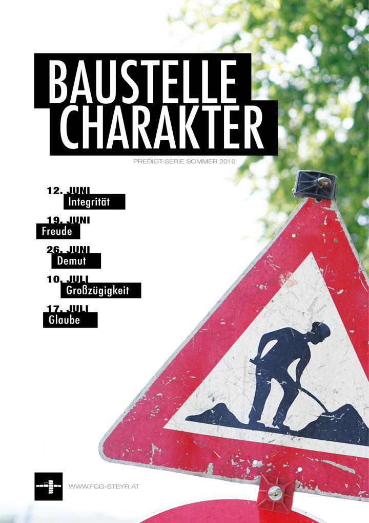 Baustelle-Charakter-Poster